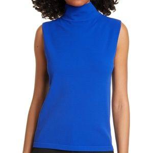Judith & Charles lapis blue sleeveless top M NWOT